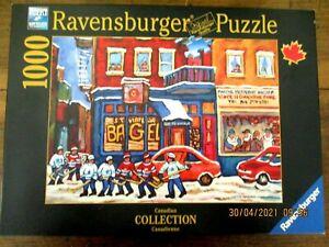 Ravensburger Canadian Collection 1000 pc Jigsaw Puzzle-ST VIATEUR BAGEL & HOCKEY