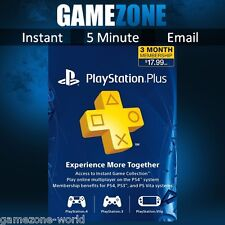 PLAYSTATION PLUS PSN di 90 giorni USA codice-PS ci Store 3 MESI Card Key-Sony PS4