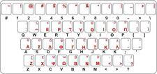 Sticker decal keyboard red letter greek greece transparent pc