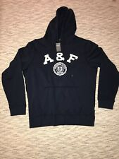 NWT Men's Abercrombie & Fitch Navy Sweatshirt Hoodie Size Large