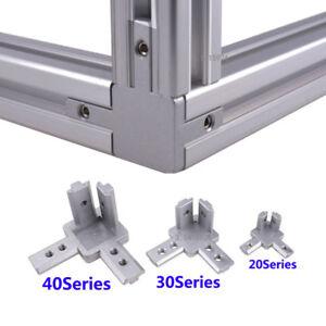 3-way 90° inside Corner Joint  Bracket Connector F T-slot Aluminum profile Frame