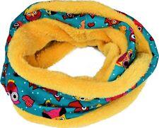 Rendondo Bufanda para Niños Multicolor con Patrón Buhos Micropolar Polar Algodón