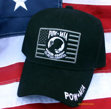 NEW POW MIA CAP HAT US ARMY NAVY AIR FORCE MARINES WOWH PIN UP MILITARY GIFT WOW