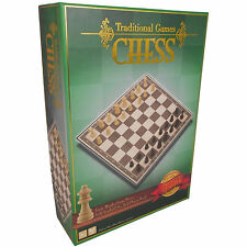 Traditional Games Chess Wooden Pieces Premium Quality Board New Boxed
