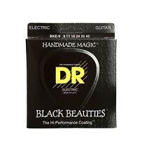 DR Strings BKE-9 Black Beauties Coated Electric Guitar Strings, 9-42