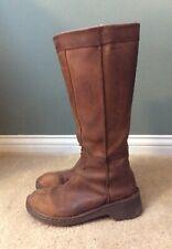 Dr. Martens Docs Tall Boots, Caramel Tan Wildhorse Leather, Zip, UK 4 / US 6