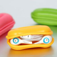 4 pcs Earphone Organizer Peanut Shape Wires Earbuds Cord USB Cable Winder Case