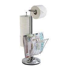 TOILETTENCADDY Toiletten-Papierhalter + Zeitungsständer WC Standgarnitur