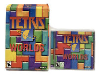 Retro Tetris Worlds, PC CD-ROM Computer Game 2002, W/ Box Case & Manual Vintage