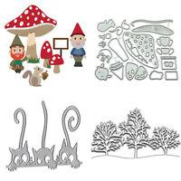 Cats Christmas Snow Tree Metal Cutting Die Stencil DIY Scrapbook Embossing Craft