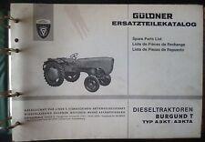 Güldner Schlepper Burgund N A3KT / A3KTA Ersatzteiltatalog