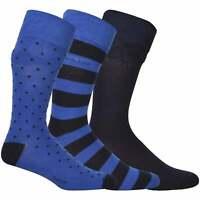 GANT Men's 3-Pack Solid, Stripe & Spot Cotton Socks, College Blue One Size