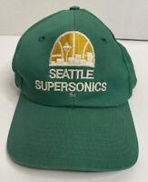 Vintage SEATTLE SUPERSONICS NBA Cap Snapback Trucker Hat Embroidered