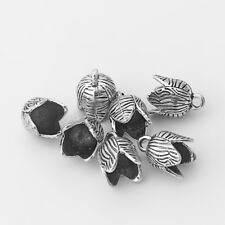 10 x Tibetan Silver Bud Shaped End Bead Caps Charms For Tassel Jewelry Making