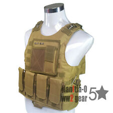 SWAT Tan Airsoft Magazine Tactical Vest Molle System Airsoft Paintball Gear