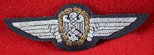 "Rare Vintage 1960s 1970s West Germany Luftwaffe Wings Bullion on Felt Pin 4-3/4"""