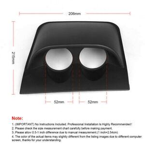 2'' / 52mm Car Dual Dash Gauge Meter Pod 2 Hole Dashboard Mount Holder Pod Black