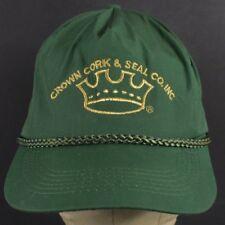 Green Crown Cork & Seal Co Logo Embroidered Baseball Hat Cap Adjustable Snapback