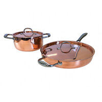 Le Chef 5-ply Copper 4 Piece Cookware Set with Copper Lid, Super Sale.