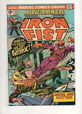 Marvel Premiere #20 NM- 9.2 WHITE PAGES!  IRON FIST vs BATROC! 1974 BEAUTY! 15