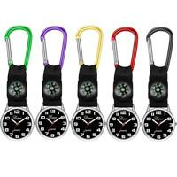 Outdoor Watches Alloy Carabiner Buckle Compass Sports Militray Climbing Camping