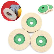 BL_ 3x Metal Glass Polishing Buffing Wheel Wool Felt Polisher Disc Pad Mat Eyefu
