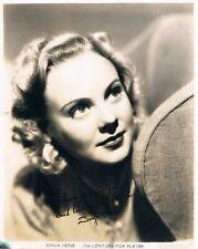 "Sonja Henie 1912-69 genuine Vintage autograph signed 8""x10"" photo figure skater"