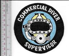 SCUBA Hard Hat Diving Commercial Diver Supervisor Qualification Patch Black lg