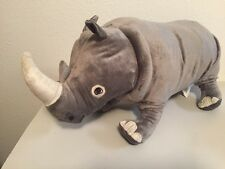 "NEW IKEA Rhino 22"" Stuffed Animal Plush Soft Toy Gray ONSKAD NWT"