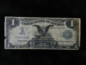 1899 $1 Black Eagle Silver Certificate Large Size Note