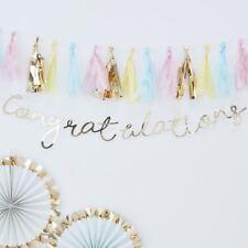 GOLD CONGRATULATIONS BUNTING - Party,Celebrate,Backdrop,Graduation,Decoration