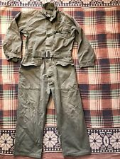 Vintage 40's 50's Hbt Coveralls Large 13 Star Button Post Wwii Korean War Named