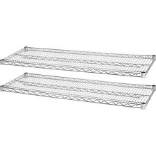 Lorell Industrial Wire Shelving 2 Extra Shelves 48x18 2pk Ce 84183
