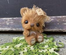 OOAK Mini Bear ~ Sandys Oaks, Collectors Miniature Artist Bear 3.5 Inches ❤️