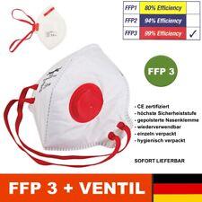 FFP3 Maske Nasen Mundschutz mit Ventil ✅ zertifiziert für Brillenträger geeignet
