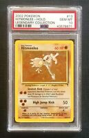 Pokemon PSA 10 Hitmonlee Holo Legendary Collection #13/110 Gem Mint