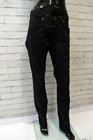 Jeans Pantalone Nero Donna JECKERSON Taglia 26 Pants Woman Gamba Dritta