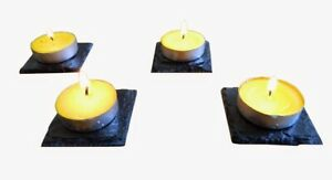 Natural Slate Tealight Stand Holder Candle Tray Handmade Home Decor Tealights