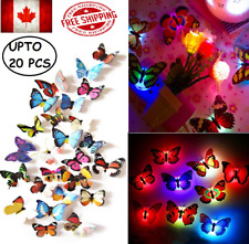 Butterfly Flying  Wall Decals 3D light Home Decoration Kids Room Bedroom Decor