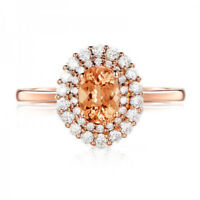 Gorgeous Ring for Women Rose Gold Filled Jewelry Crytine Gemstone Ring Size 6-10