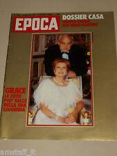 EPOCA=1982/1668=GRACE KELLY COVER MAGAZINE PHOTO THE LEGEND=MARIO DI BIASI=