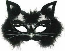 CAT EYE MASK FANCY DRESS ACCESSORY MASQUERADE EYEMASK HALLOWEEN BALL HEN COSTUME