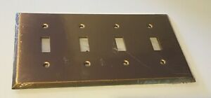 Mulberry 66074 4 Gang Toggle Satin Bronze Wall Plate