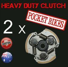 2 x Heavy Duty Pocket Bike Clutch for 49cc Pocket Rocket ATV Quad 47cc parts