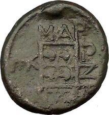Maroneia in Thrace 400BC Original Ancient Greek Coin Horse Vine Grapes  i36949