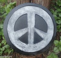 gostatue peace sign stepping stone plastic mould concrete plaster mold