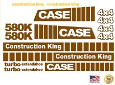 Case 580K EXTENDAHOE 4x4 Loader Backhoe construction king decals sticker set 580