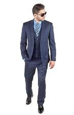 Slim Fit 2 Button Navy Blue Sport Coat Blazer Jacket Detailed Stitching Azar Man 40 Long Jacket