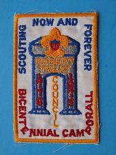 1975 ROBERT TREAT COUNCIL CENTENNIAL CAMPORE  POCKET PATCH    BOY SCOUT  a191