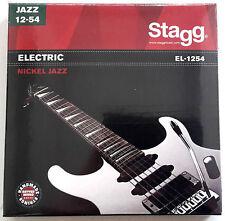 Gitarrensaiten E-Gitarre 012-054 Set Satz Gitare Seiten Stahl Stagg EL1254 Jazz